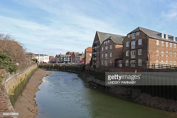 The market town of Boston and the river Haven running through it in Lincolnshire on March 5 2015 For centuries the town of Boston in eastern England...