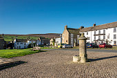 The market village of Reeth in Swaledale, North Yorkshire, England