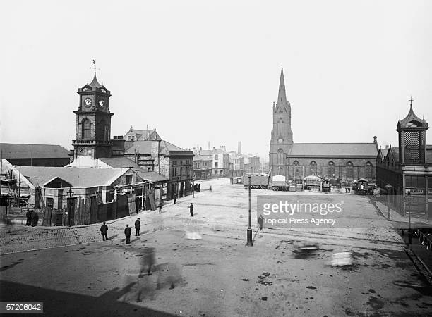 The marketplace in Middlesbrough 17th September 1912