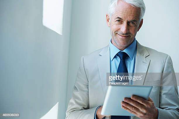 the markets are looking good! - handsome 50 year old men stock photos and pictures