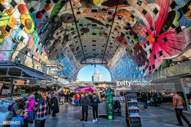 The Markthal or The Market Hall is one of the most famous landmarks of Rotterdam and The Netherlands There horseshoe shaped buildings that opened in...