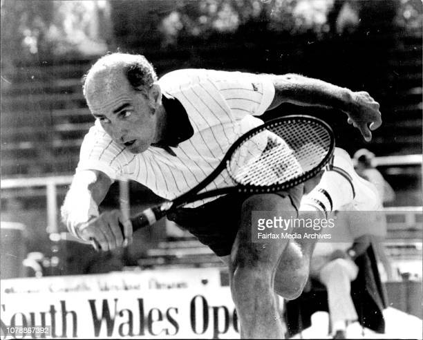 The Marlboro NSW Open tennis at White City courts in ***** Bob Hewitt from S Africa in action against Roscoe Tanner from USA Bob Hewitt of South...