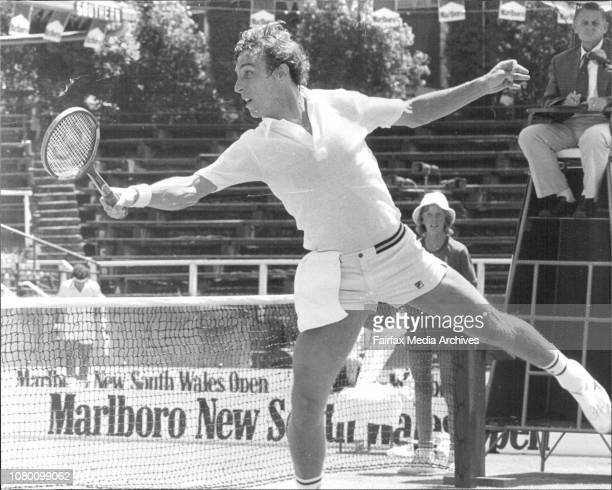 The Marlboro NSW Open tennis at White City courts in SydneyDick Stockton from USA in action against Tom Gorman from USA December 26 1976