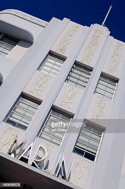 The Marlin Hotel in South Beach Miami Beach Florida USA South Beach part of Miami Beach is famous for its art deco hotels and contains the largest...