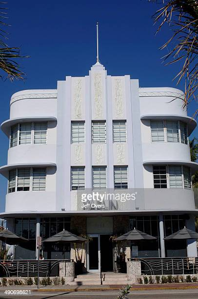 The Marlin Hotel, in South Beach, Miami Beach, Florida, USA. South Beach, part of Miami Beach, is famous for its art deco hotels and contains the...