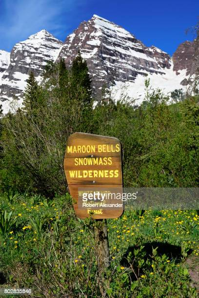 The Maroon Bells near Aspen Colorado are two peaks in the Elk Mountains Maroon Peak and North Maroon Peak They are located in the Maroon...