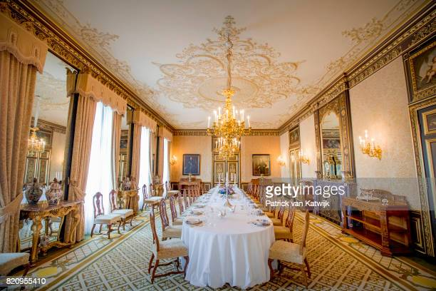 The Marot dining room in Palace Noordeinde on July 22 2017 in The Hague Netherlands Palace Noordeinde is the office of King WillemAlexander and Queen...