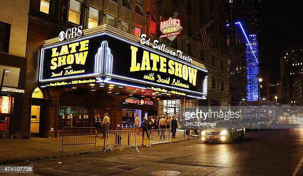The marquee at the Ed Sullivan Theater on May 19 2015 in New York City