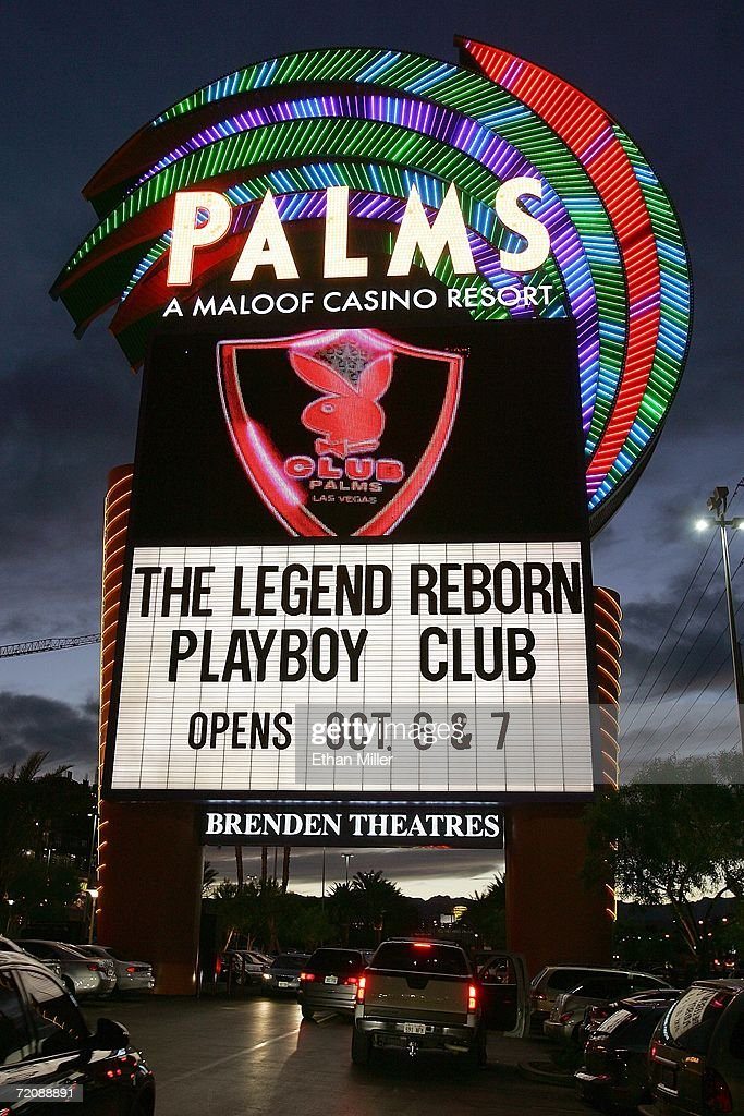 The marquee at the Palms Casino Resort advertises this weekend's opening of the first-ever Las Vegas Playboy Club October 4, 2006 in Las Vegas, Nevada. The Playboy Club will be the centerpiece of the multi-level entertainment complex at the top of the Palms' new Fantasy Tower.