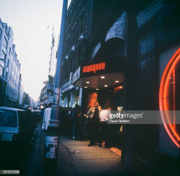 The Marquee Club on Wardour Street in Soho London circa 1975