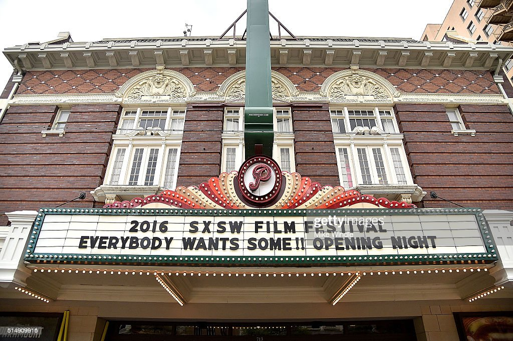 The marquee for the screening of 'Everybody Wants Some' is displayed during the 2016 SXSW Music, Film + Interactive Festival at Paramount Theatre on March 11, 2016 in Austin, Texas.