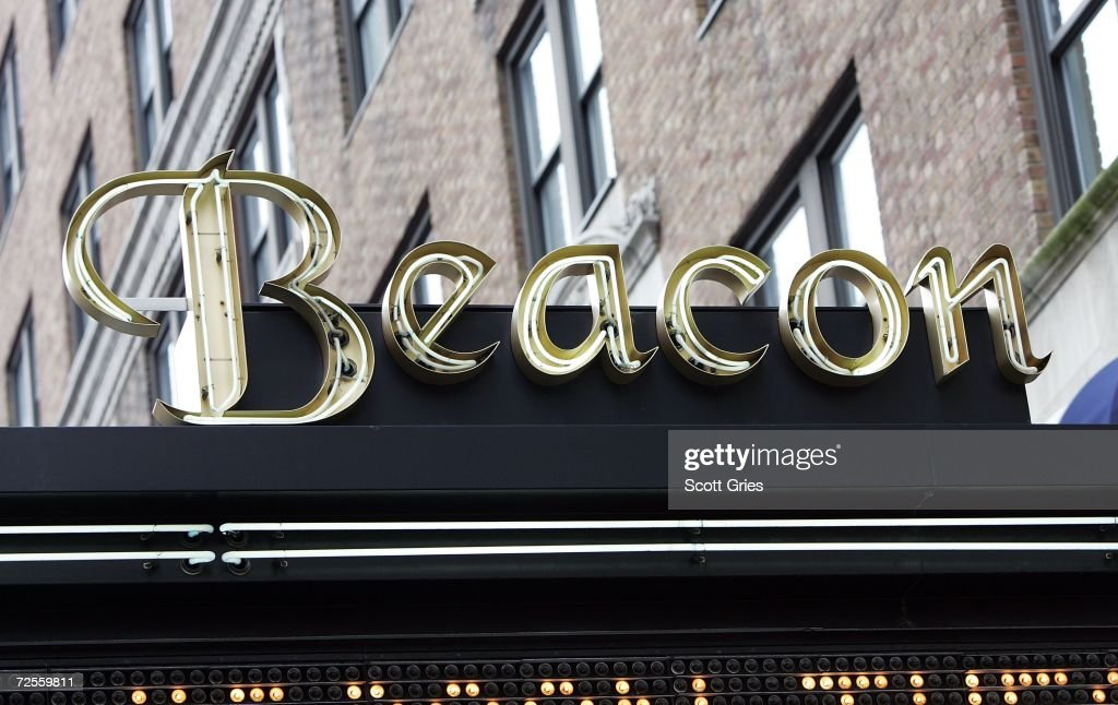 The marquee of the Beacon Theater is seen following a press conference to announce that MSG Entertainment will acquire the Beacon Theater on November 15, 2006 in New York City.