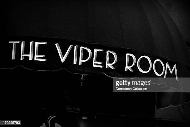 The marquee of The Viper Room on the Sunset Strip on June 7 2013 in Los Angeles California