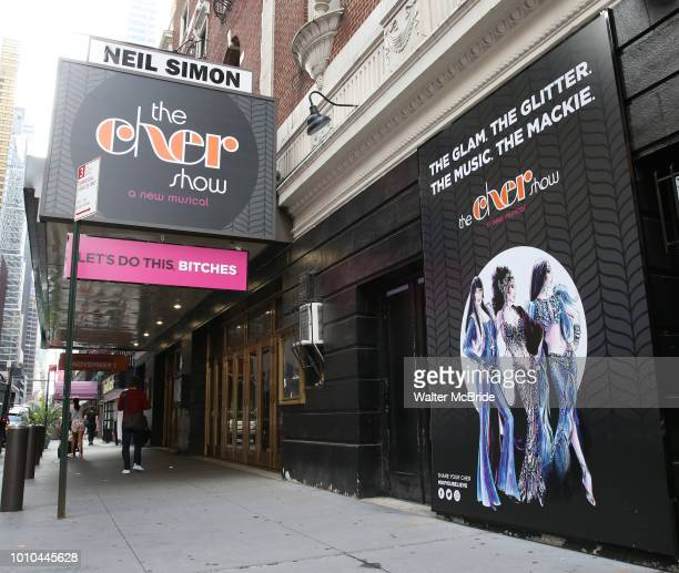 The marquee unveiling for 'The Cher Show' at the Neil Simon Theatre is seen on August 3 2018 in New York City Cher will be played by Stephanie J...