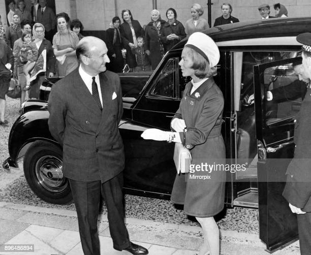 The Marquess of Normanby escorts Katharine Duchess of Kent into Middlesbrough Town Hall 25th September 1968