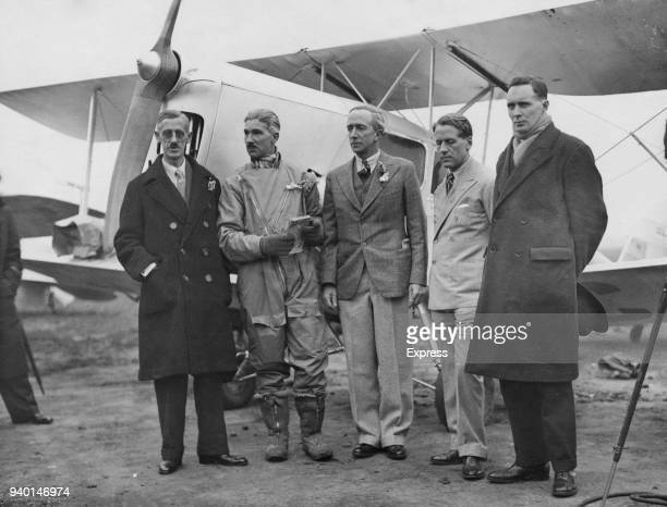 The Marquis of Clydesdale departs from Heston Aerodrome on the Houston Mount Everest Expedition, to become the first person to fly over Mount...