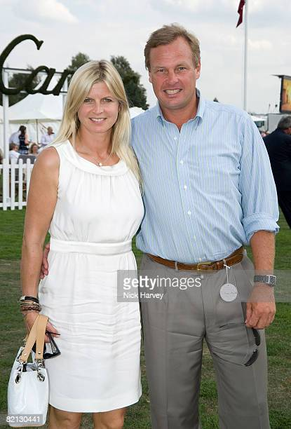 The Marquis of Milford Haven and Marchioness of Milford Haven attend the Cartier International Polo Match at Guards Polo Club on July 27 2008 in...
