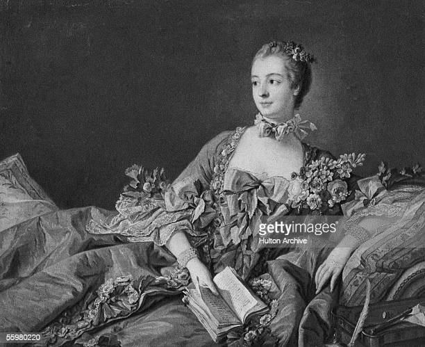 The Marquise de Pompadour , a favourite mistress of King Louis XV of France, circa 1750. From a painting by Francois Boucher.