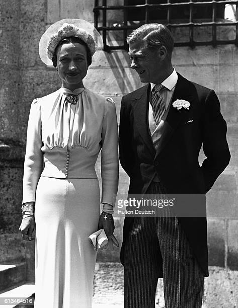 The marriage of Edward the quondam King of England and Wallis Warfield in France American socialite born Bessie Wallis Warfield married Lieutenant...