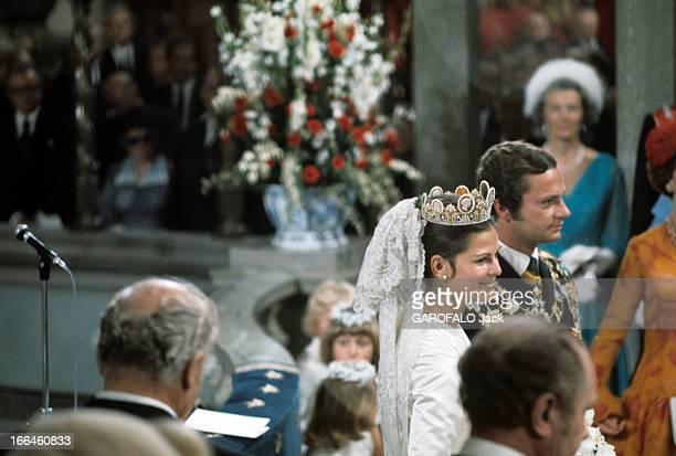 The Marriage Of King Gustav Carl Xvi Of Sweden With Silvia Sommerlath Stockholm 19 juin 1976 Dans la cathédrale à l'occasion de leur mariage Silvia...