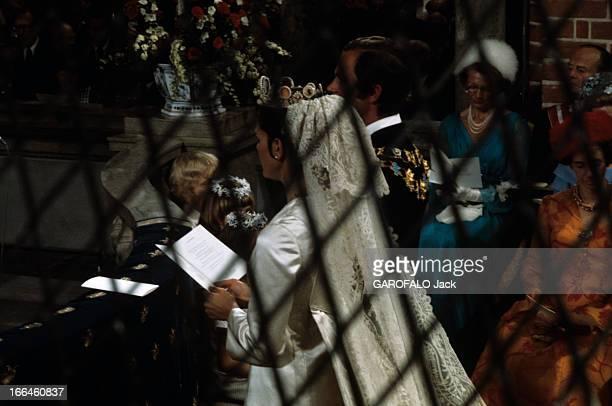 The Marriage Of King Gustav Carl Xvi Of Sweden With Silvia Sommerlath Stockholm 19 juin 1976 Dans la cathédrale à l'occasion de leur mariage vues de...