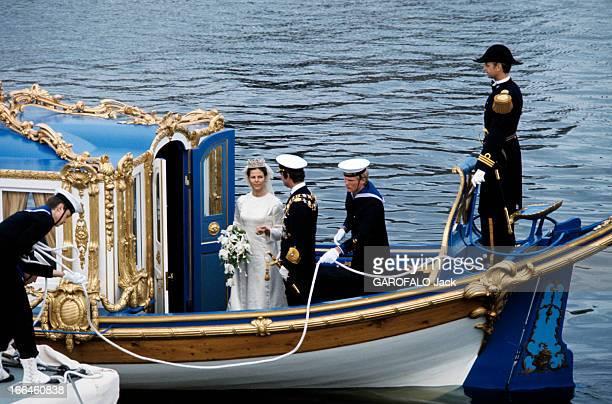 The Marriage Of King Gustav Carl Xvi Of Sweden With Silvia Sommerlath Stockholm 19 juin 1976 A l'ocassion de leur mariage le roi CARLGUSTAV XVI DE...