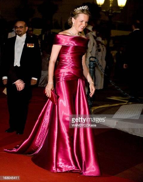 The Marriage Of Prince Albert With Charlene Wittstock Monaco 2 juillet 2011 Le dîner la princesse Mathilde de Belgique