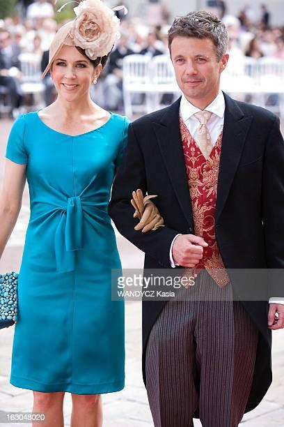 The Marriage Of Prince Albert With Charlene Wittstock Monaco 2 juillet 2011 La crmonie religieuse arrive du prince Crown Prince Frederik of Denmark...