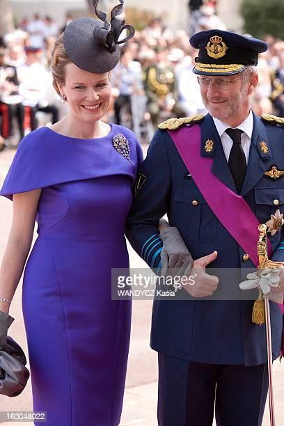 The Marriage Of Prince Albert With Charlene Wittstock Monaco 2 juillet 2011 La cérémonie religieuse arrivée du prince PHILIPPE de BELGIQUE et de son...