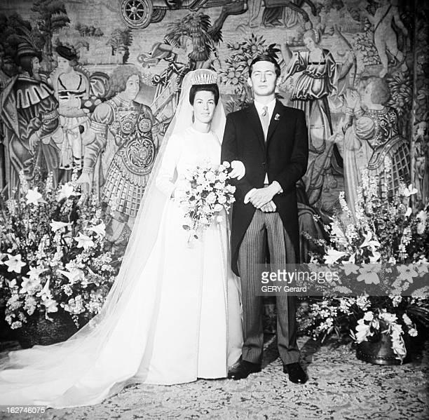 The Marriage Of Prince Hans-Adam Of Liechtenstein With Mary Kinsky Von Wchinitz Und Tettau. Vaduz - 30 juillet 1967 - Dans une des soixante douze...