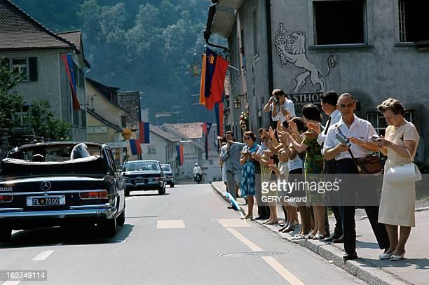 The Marriage Of Prince Hans-Adam Of Liechtenstein With Mary Kinsky Von Wchinitz Und Tettau. Vaduz - 30 juillet 1967 - A l'occasion de son mariage...