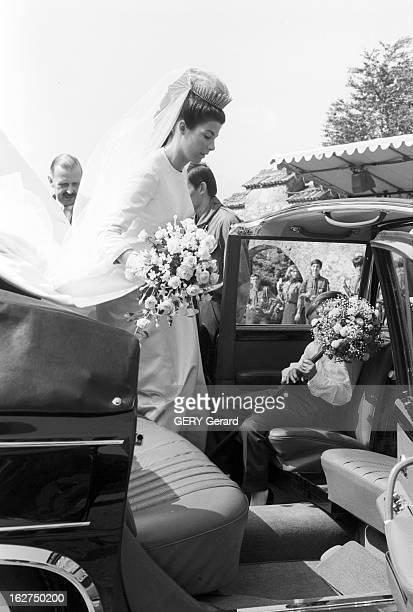 The Marriage Of Prince Hans-Adam Of Liechtenstein With Mary Kinsky Von Wchinitz Und Tettau. Le 30 juillet 1967 - Lors de son mariage avec le prince...