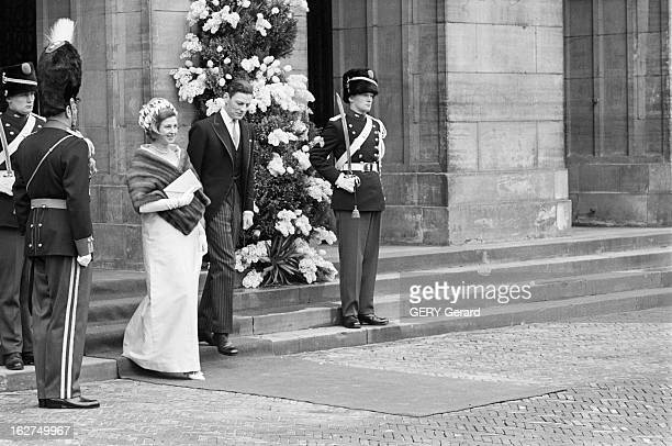 The Marriage Of Princess Beatrix Of Holland With Claus Von Amsberg Le 10 mars 1966 à Amsterdam lors du mariage de la princesse BEATRIX DE HOLLANDE et...