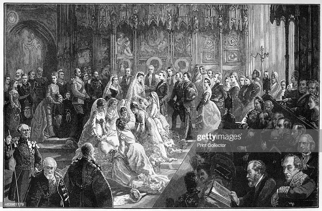 The marriage of Princess Louise, 21 March 1871, (1900).Artist: Sydney Prior Hall : News Photo