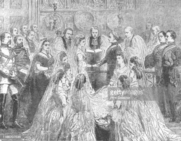 The Marriage of Princess Louise with the Marquis of Lorne in St George's Chapel Windsor March 21 1871' Queen Victoria's daughter Princess Louise...