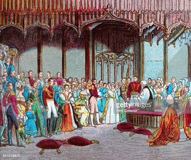 The Marriage of Queen Victoria 10th February 1840' c1902 Marriage of Queen Victoria and Prince Albert St James's Palace Westminster London 1840 The...