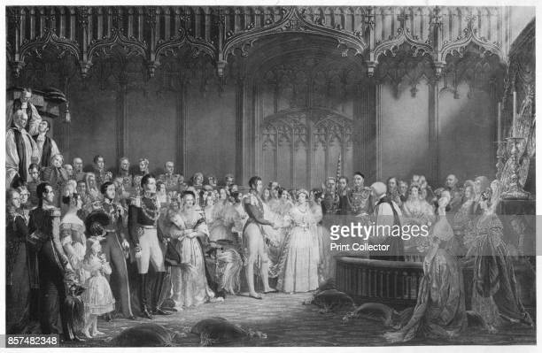 The Marriage of Queen Victoria and Prince Albert' circa 1840 The Marriage of Queen Victoria and Prince Albert on the morning of 10th February 1840 in...