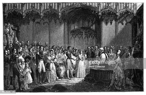The Marriage of Queen Victoria and Prince Albert The Queen married Prince Albert in 1840 at the Chapel Royal St James's Palace London Illustration...