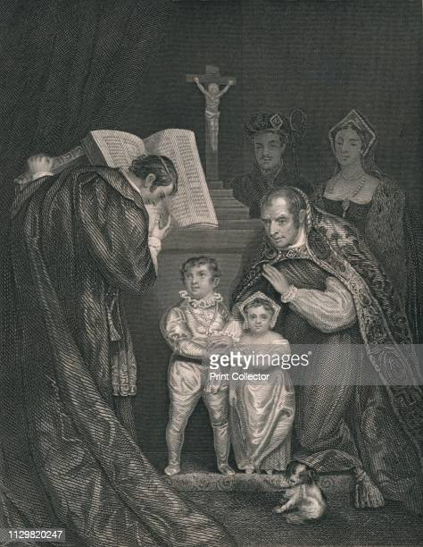 'The Marriage of Richard Duke of York ' Engraving after a painting made in 1821 depicting the marriage of Richard of Shrewsbury Duke of York and Anne...