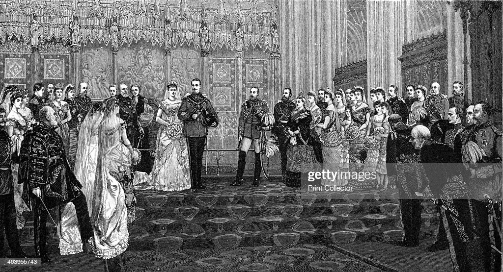 The Marriage of the Duke and Duchess of Albany, 27 April 1882, (1900). Artist: James Dromgole Linton : News Photo