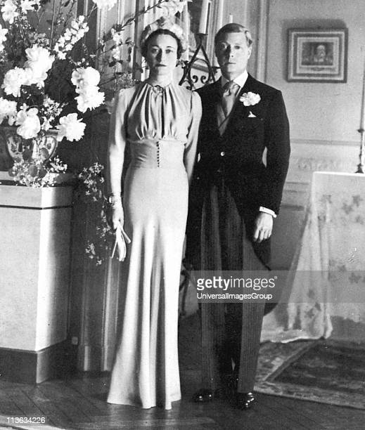 The marriage of the Duke of Windsor and Wallis Simpson 3 June 1937