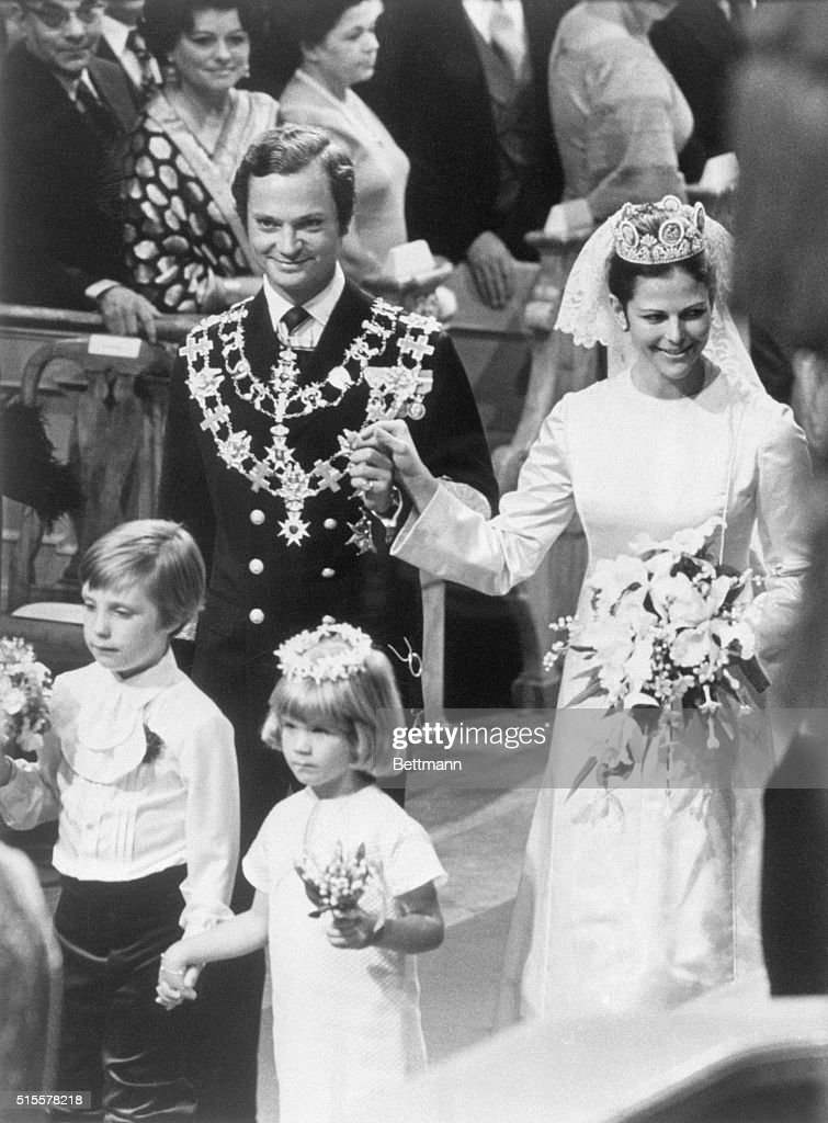 Marriage of King and Queen of Sweden : News Photo