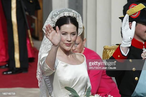 The Marriage Of The Prince Frederik Of Denmark Le mariage du prince FREDERIK DE DANEMARK avec l'australienne Mary DONALDSON à COPENHAGUE la mariée de...