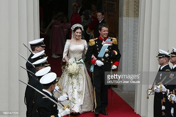The Marriage Of The Prince Frederik Of Denmark Le mariage du prince FREDERIK DE DANEMARK avec l''australienne Mary DONALDSON à COPENHAGUE les jeunes...