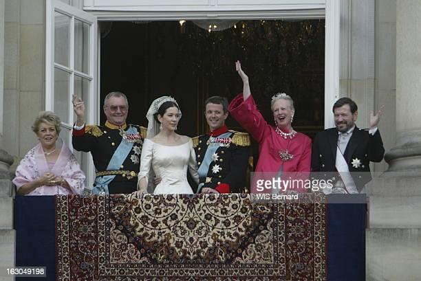 The Marriage Of The Prince Frederik Of Denmark Le mariage du prince FREDERIK DE DANEMARK avec l'australienne Mary DONALDSON à COPENHAGUE les jeunes...