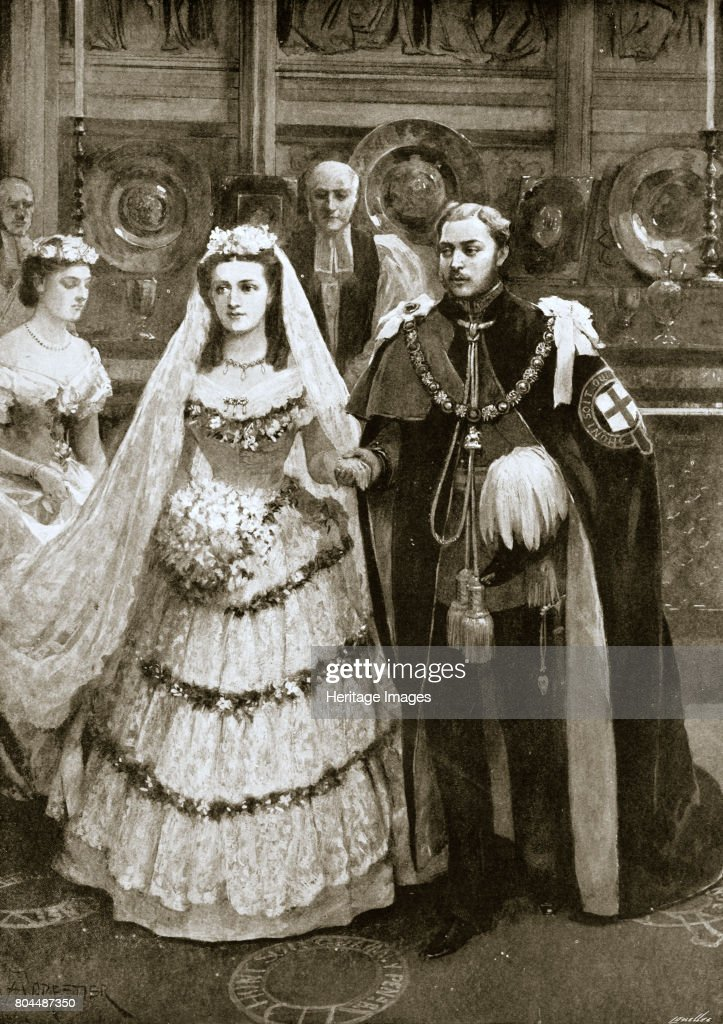 The Marriage Of The Prince Of Wales And Princess Alexandra Of Denmark Windsor 1863 (1901) : News Photo
