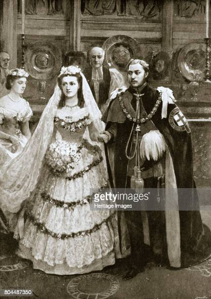 The marriage of the Prince of Wales and Princess Alexandra of Denmark Windsor 1863 Albert Edward Prince of Wales the future King Edward VII married...