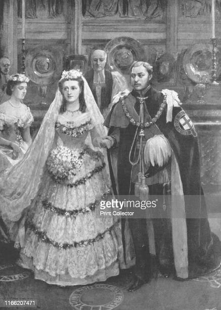 The Marriage of the Prince of Wales with Princess Alexandra of Denmark in St George's Chapel Windsor March 10th 1863' Prince Albert Edward the future...