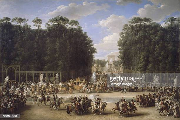The marriage procession of Napoleon I and MarieLouise crossing the Jardin des Tuileries on 2nd April 1810 1810 Found in the collection of Musée de...