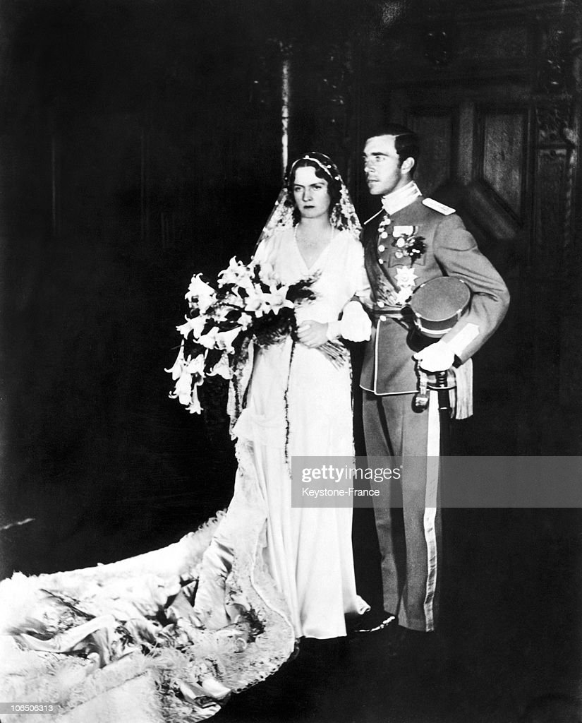 Wedding Of Prince Gustaf Adolf Of Sweden In 1932 : News Photo